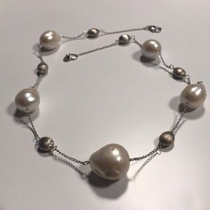 JTV Freshwater Baroque Pearl Necklace